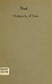 Cover of: The historicity of Ezra