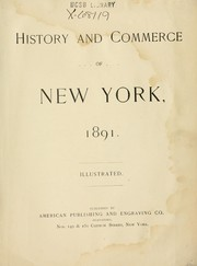 Cover of: History and commerce of New York, 1891. |