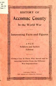 Cover of: History of Accomac County in the world war |