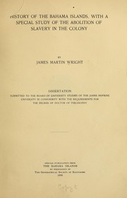 Cover of: History of the Bahama Islands | James Martin Wright