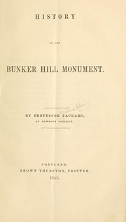 Cover of: History of the Bunker Hill Monument