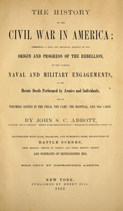 Cover of: The history of the Civil War in America