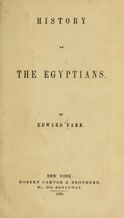 Cover of: History of the Egyptians
