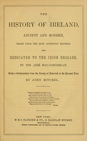 Cover of: The history of Ireland, ancient and modern