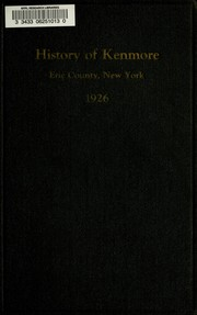 Cover of: History of Kenmore