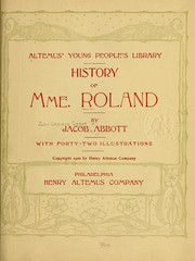 Cover of: History of Mme. Roland