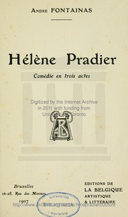 Cover of: Hélène Pradier