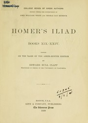 Cover of: Homer's Iliad, books 19-24