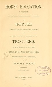 Cover of: Horse education