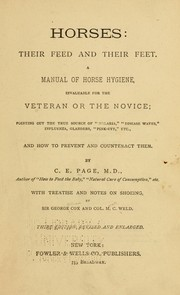 Cover of: Horses | C. E. Page
