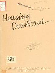 Cover of: Housing in downtown Boston