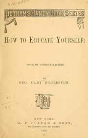 Cover of: How to educate yourself: with or without masters