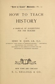 Cover of: How to teach history
