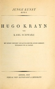 Cover of: Hugo Krayn | Karl Schwarz
