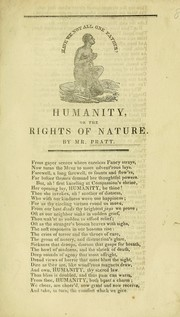 Cover of: Humanity, or, The rights of nature