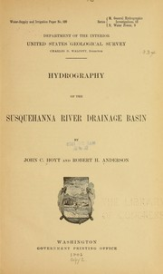 Cover of: Hydrography of the Susquehanna river drainage basin