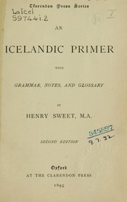 Cover of: An Icelandic primer