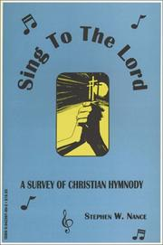 Cover of: Sing to the Lord!