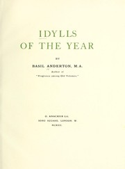 Cover of: Idylls of the year