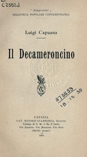 Cover of: Il decameroncino
