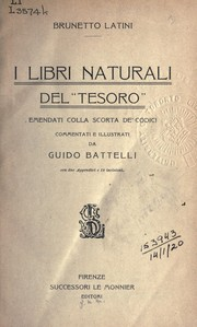 "Cover of: I libri naturali del ""Tesoro"""