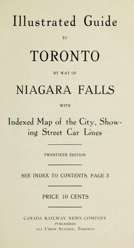Illustrated guide to Toronto by way of Niagara Falls by