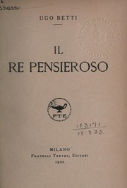 Cover of: IL re pensieroso