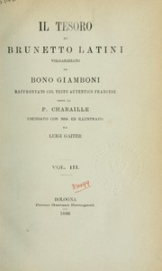 Cover of: Il Tesoro