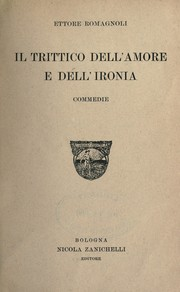 Cover of: Il trittico dell'amore e dell'ironia