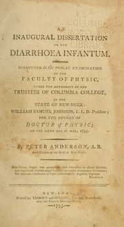 Cover of: An inaugural dissertation on the diarrhoea infantum