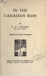 Cover of: In the Canadian bush | F.C. Cooper