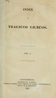Cover of: Index in tragicos graecos | Christian Daniel Beck