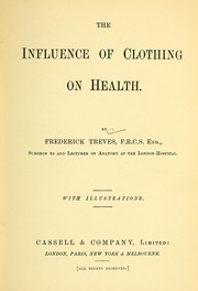Cover of: The influence of clothing on health