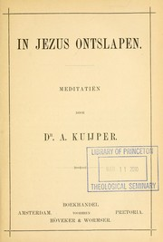 Cover of: In Jezus ontslapen