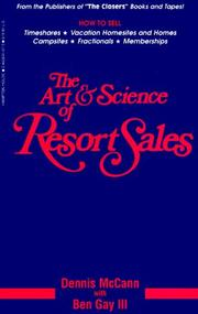 Cover of: The Art and Science of Resort Sales