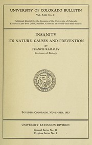 Cover of: Insanity | Francis Ramaley
