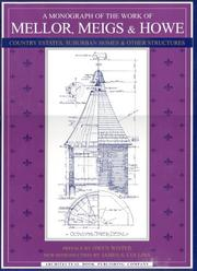 Cover of: A Monograph of the Work of Mellor, Meigs, & Howe | Owen Wister