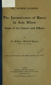 Cover of: The intermixture of races in Asia Minor