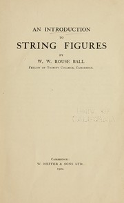 Cover of: An introduction to string figures