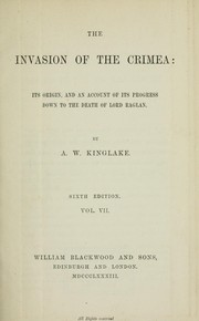 Cover of: The invasion of the Crimea