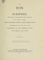 Cover of: Ion by Euripides