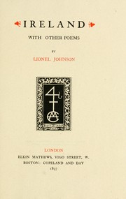Cover of: Ireland, with other poems