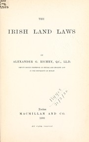 Cover of: The Irish land laws