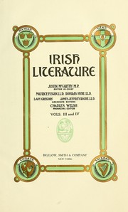 Cover of: Irish literature