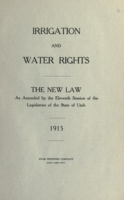 Cover of: Irrigation and water rights
