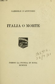 Cover of: Italia o morte