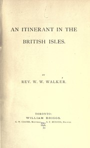Cover of: An itinerant in the British Isles