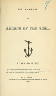 Cover of: Jesus Christ, the anchor of the soul