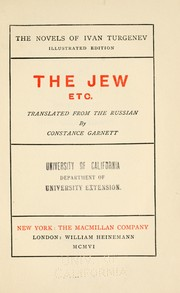 Cover of: The Jew, etc