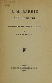 Cover of: J. M. Barrie and his books